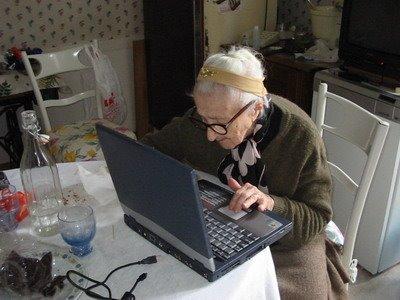 Mia nonna cerca su google