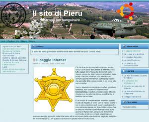 Il vecchio sito di Pieru