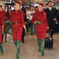 Le nuove uniformi dell'Alitalia