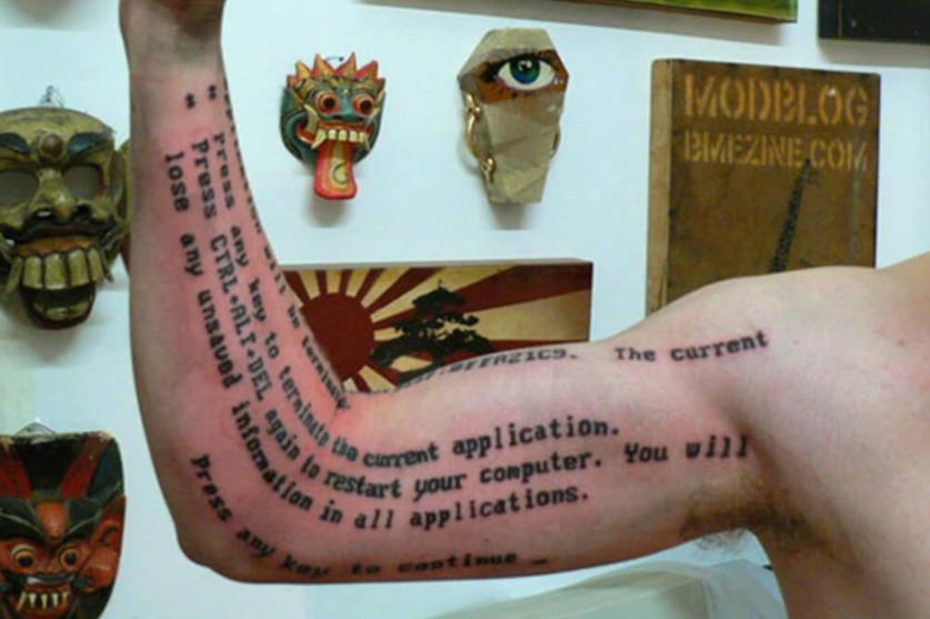 tatuaggio informatici